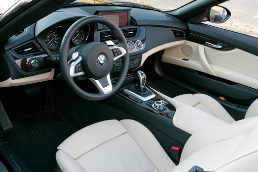 Stock Photo: 4093-8681 2010 BMW sDrive 35i close-up of interior with seats and IP