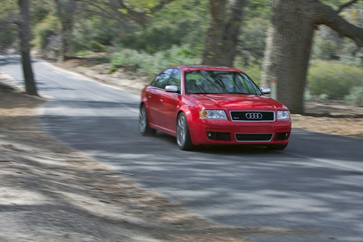 Stock Photo: 4093-9238 Audi RS6 2004 red street