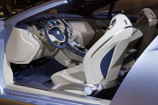 Interior view of a Buick Riviera concept shown at the 2008 Los Angeles International Auto Show. : Stock Photo