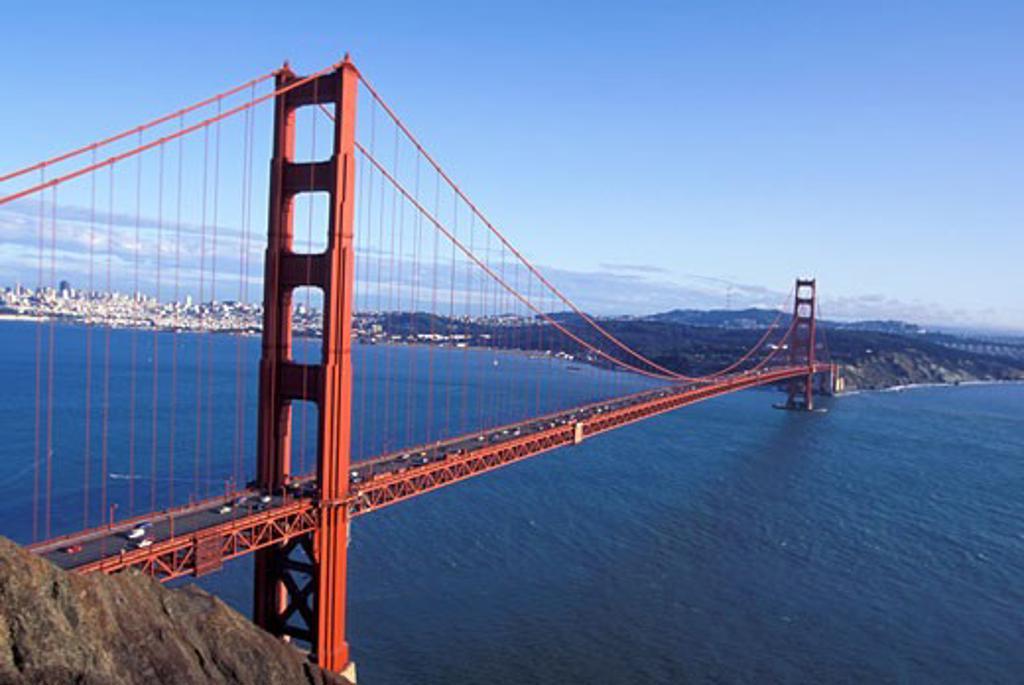 Golden Gate San Francisco city bay ocean sea : Stock Photo