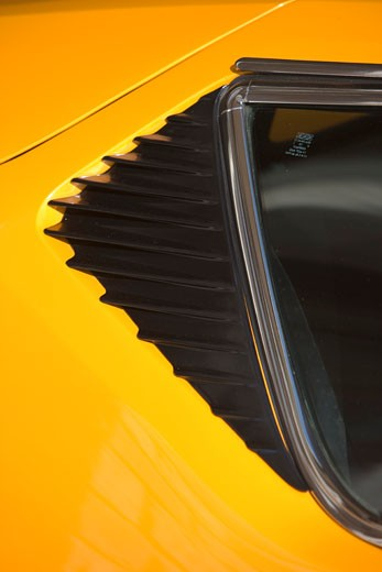 detail DeTomaso Pantera orange 1970s vent : Stock Photo