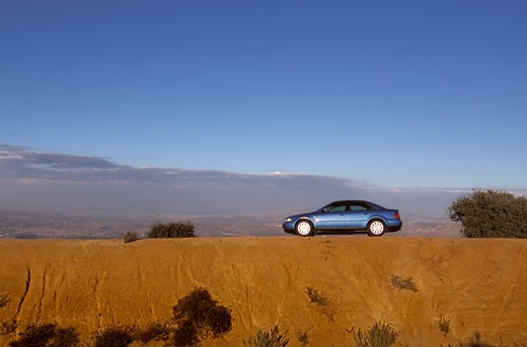 Audi A4 2001 blue : Stock Photo