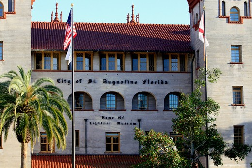 Facade of a museum, Lightner Museum, St. Augustine, Florida, USA : Stock Photo
