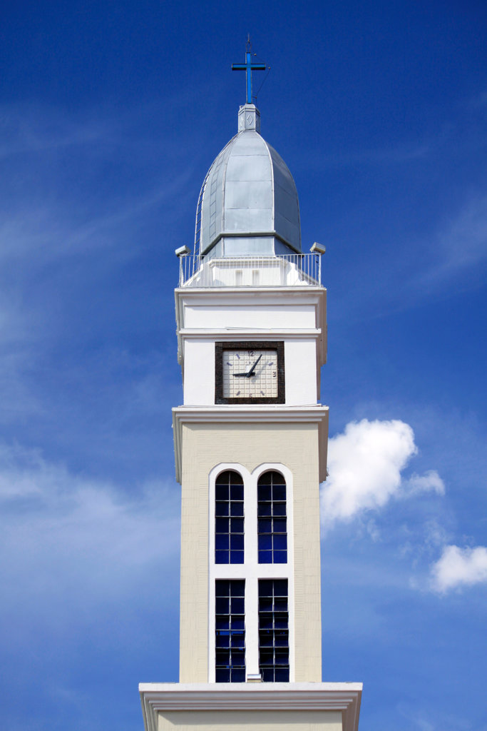 Stock Photo: 4095-139 Brazil, Campo Grande, Paroquia Sao Jose church, tower