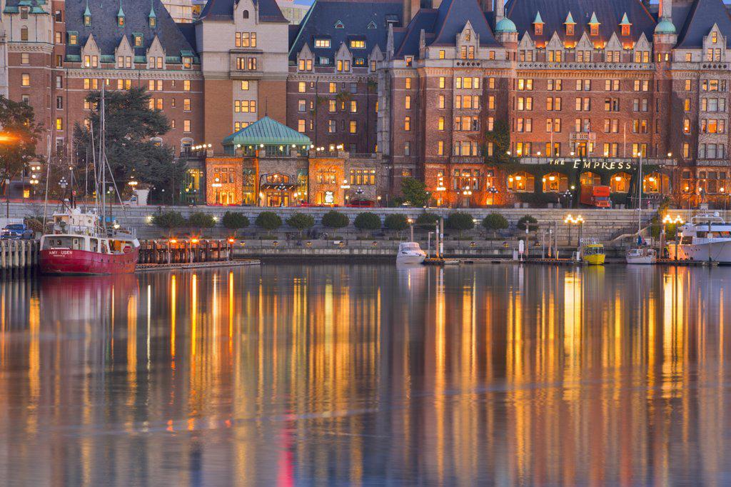 Hotel at the waterfront, Empress Hotel, Victoria, British Columbia, Canada : Stock Photo