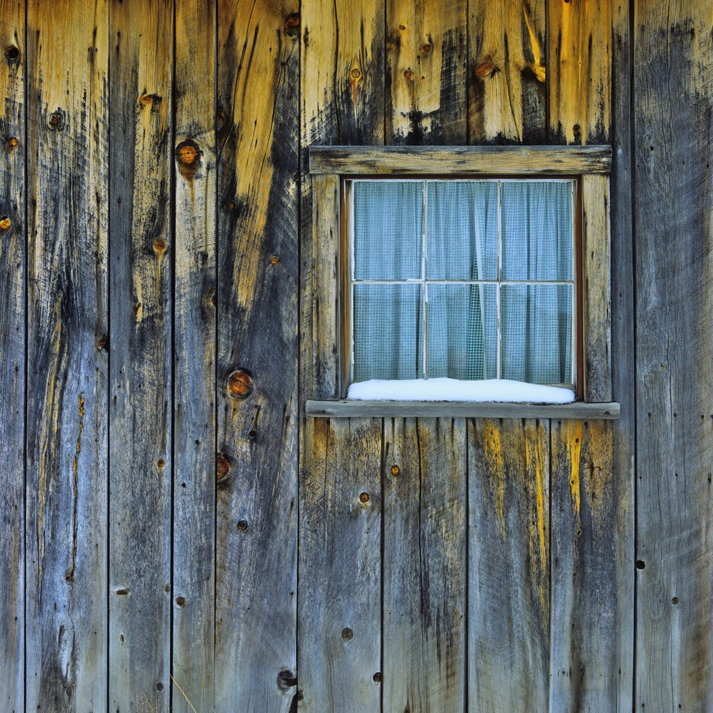 Close-up of a closed window, Bodie Ghost Town, California, USA : Stock Photo