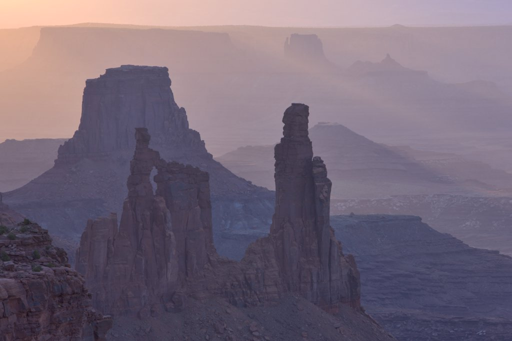 Stock Photo: 4097-2256 Rock formations in a canyon, Washer Woman Arch, Island In The Sky, Canyonlands National Park, Utah, USA