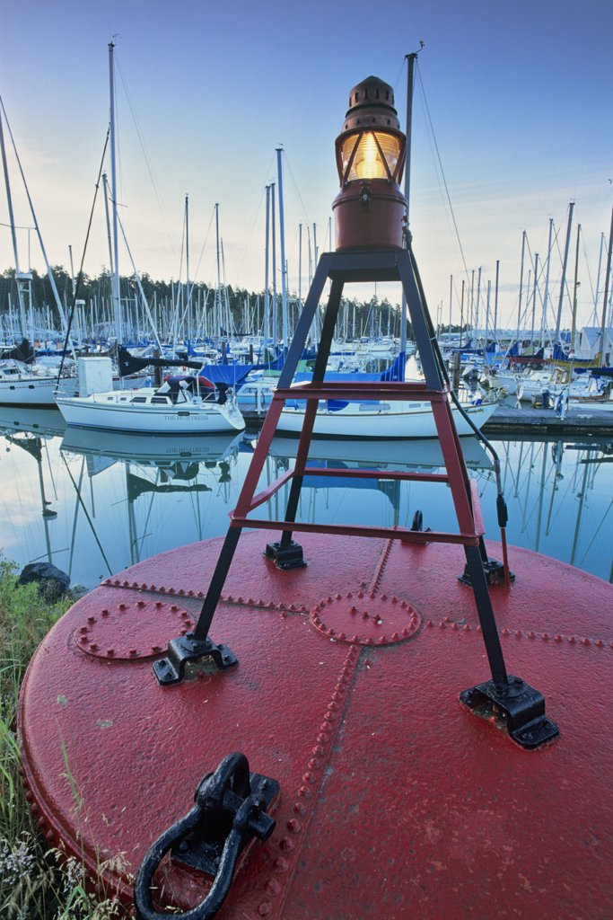 Stock Photo: 4097-238 Beacon of a Buoy, Sidney, Victoria, Vancouver Island, British Columbia, Canada