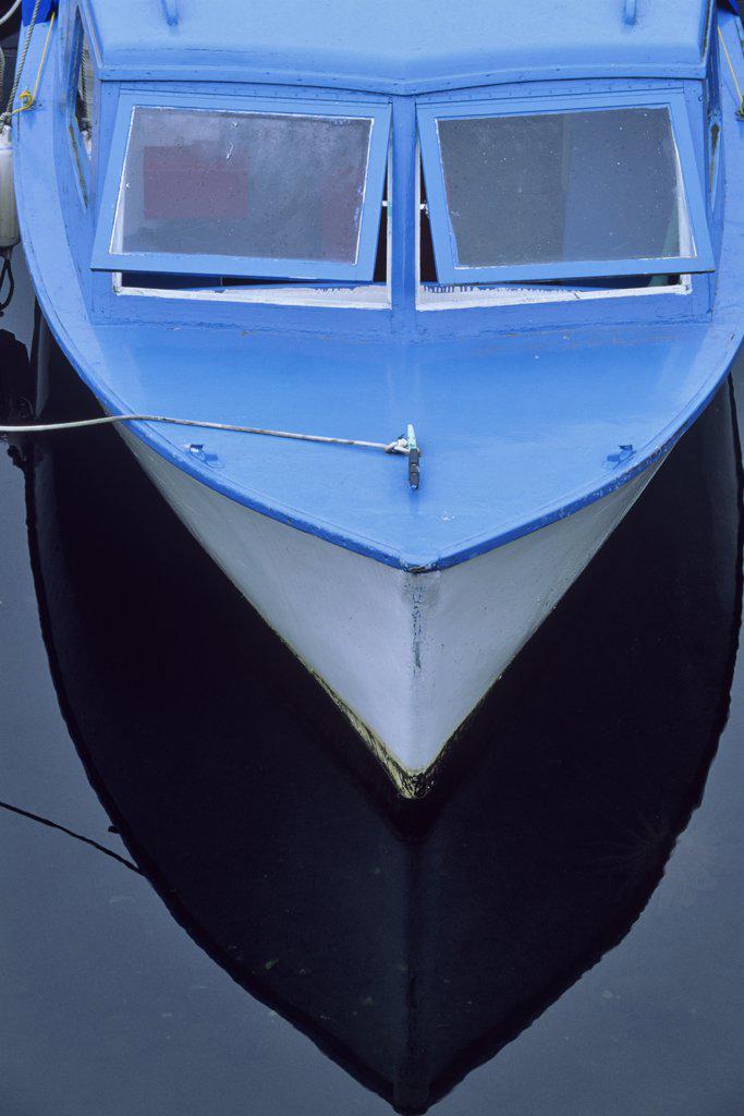Fishing boat in the sea, Victoria, Vancouver Island, British Columbia, Canada : Stock Photo