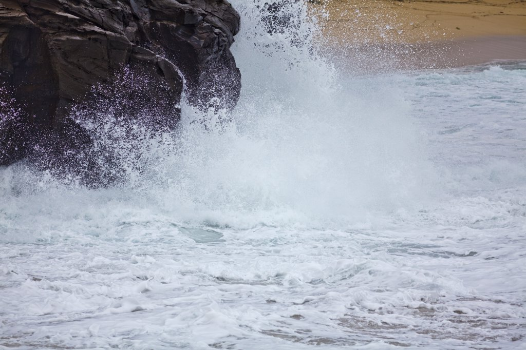 Stock Photo: 4097-3485 Waves breaking in the ocean, Oneloa Bay, Maui, Hawaii, USA