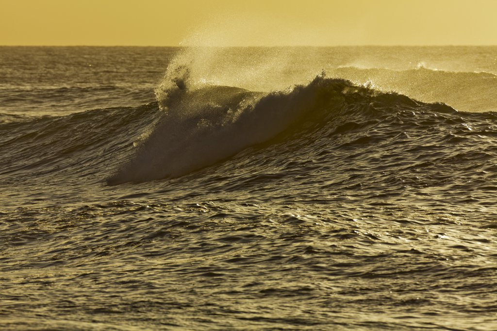 Stock Photo: 4097-3494 Waves breaking in the ocean, Maui, Hawaii, USA
