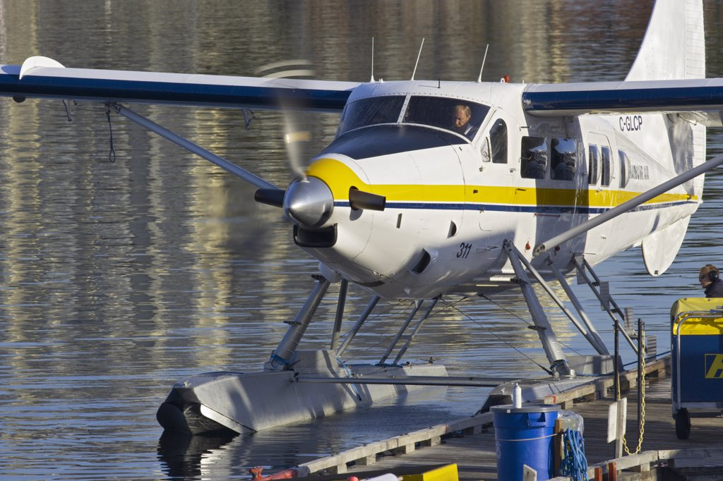 Stock Photo: 4097-365 Seaplane in the sea, Victoria, Vancouver Island, British Columbia, Canada
