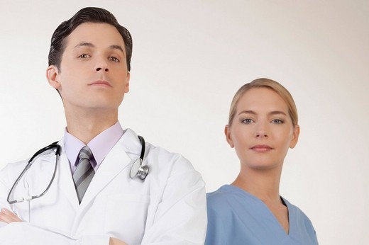 Portrait of doctors : Stock Photo