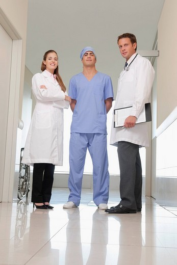 Stock Photo: 4105-5801 Three doctors standing together