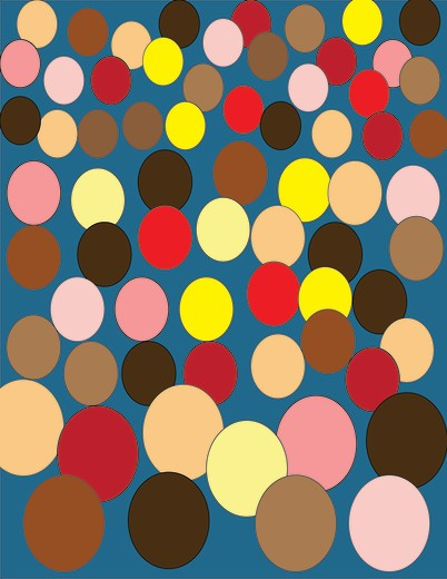 Multi-colored background representing crowd : Stock Photo