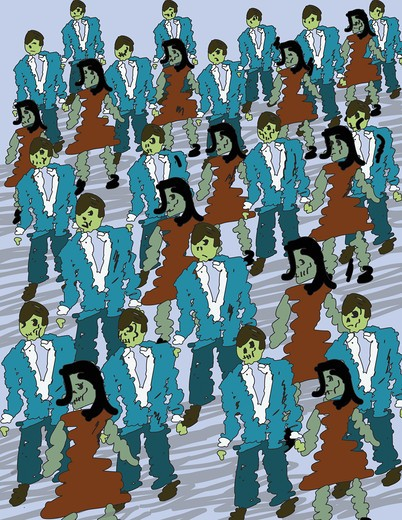 Corporate Zombies, illustration : Stock Photo