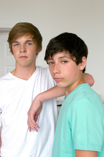 Portrait of two boys : Stock Photo