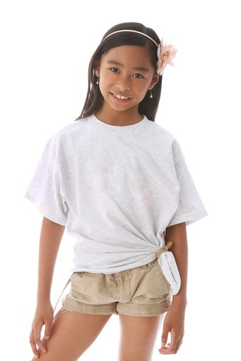 Stock Photo: 4113R-286 Studio shot portrait of girl standing
