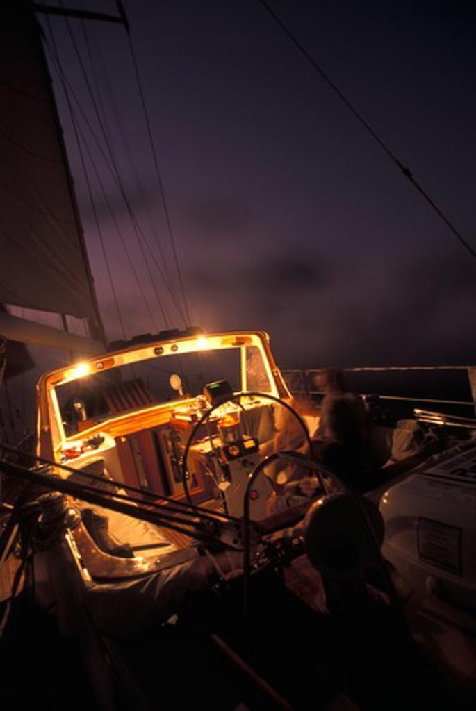 Stock Photo: 4115-1281 Atlantic crossing aboard 'Zaberdast'.