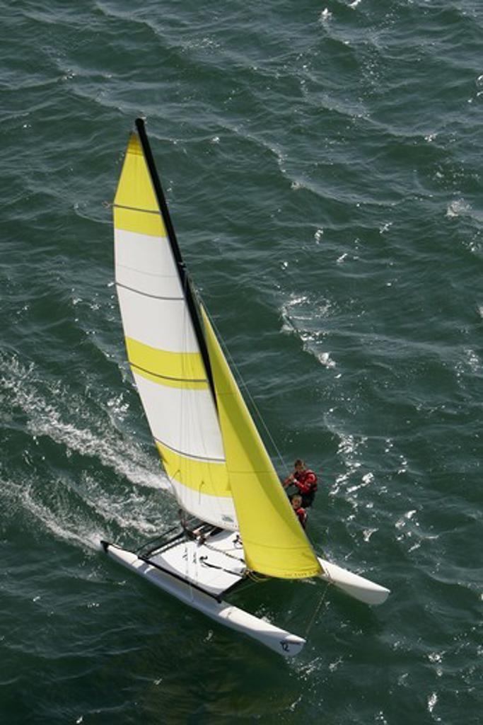 Hobie Cat on the Gulf du Morbihan, July 2005 : Stock Photo