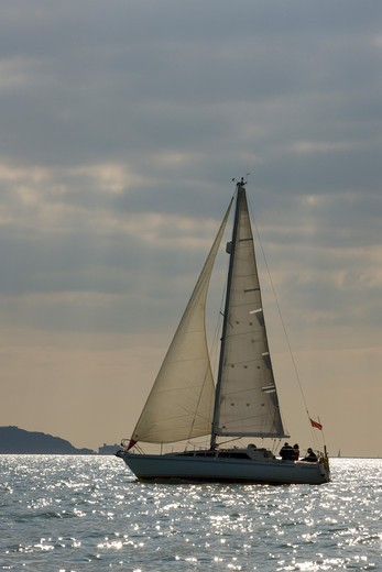 Cruising in the Solent, April 2009. : Stock Photo