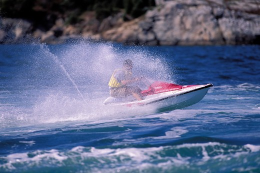 Jetskiing off Rhode Island, USA. : Stock Photo