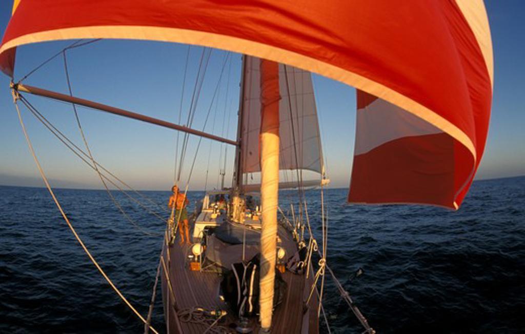 Atlantic crossing aboard 'Zaberdast'. : Stock Photo