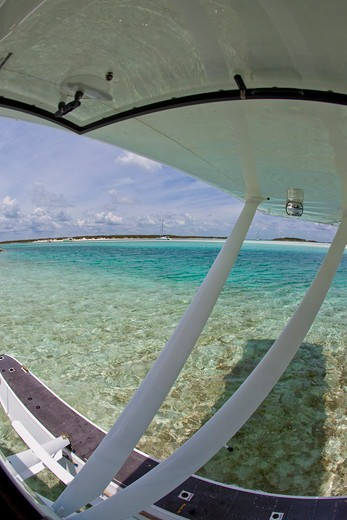 Exploring the Exumas by seaplane. Bahamas, Caribbean. June 2009. : Stock Photo