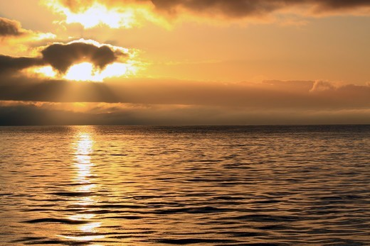 Stock Photo: 4115-4669 Sunrise on the North Sea, December 2009.