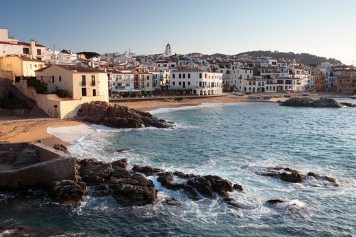 Calella de Palafrugell, Costa Brava, Gerona, Catalonia, Spain. March 2009. : Stock Photo