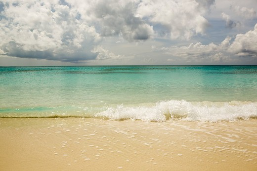 Stock Photo: 4115-5912 Beach of Grace Bay in Provodenciales, Turks and Caicos, Caribbean. June 2007.