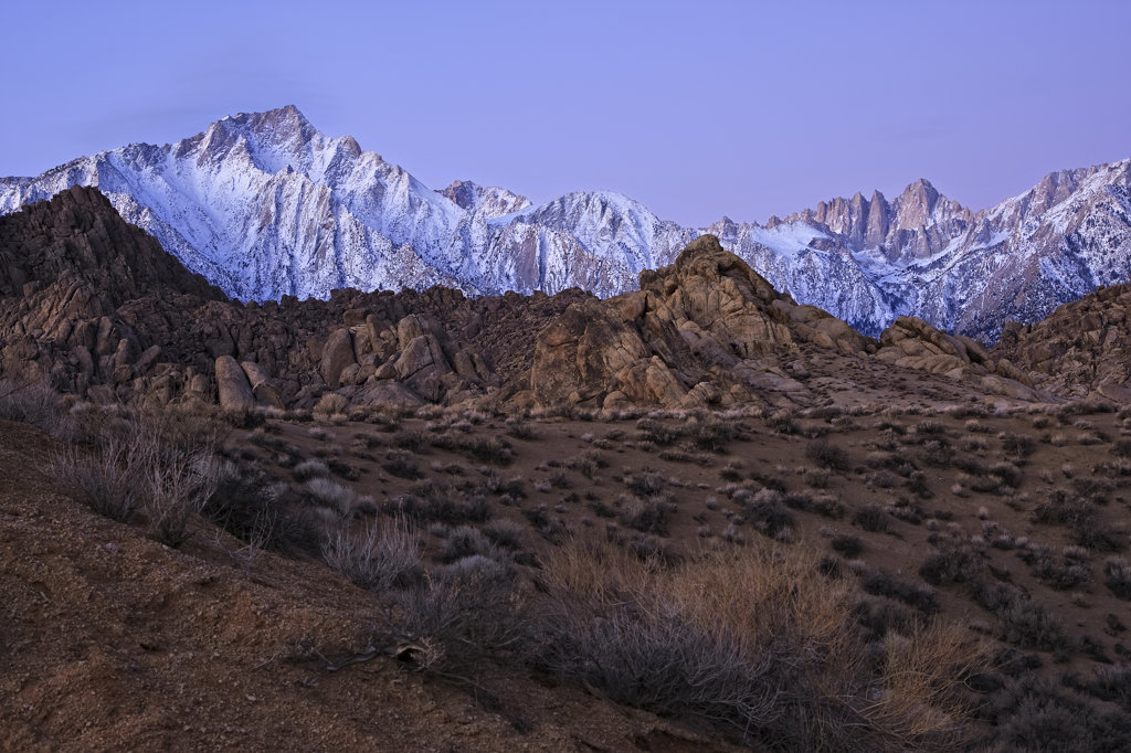 USA, California, Alabama Hills at dawn : Stock Photo
