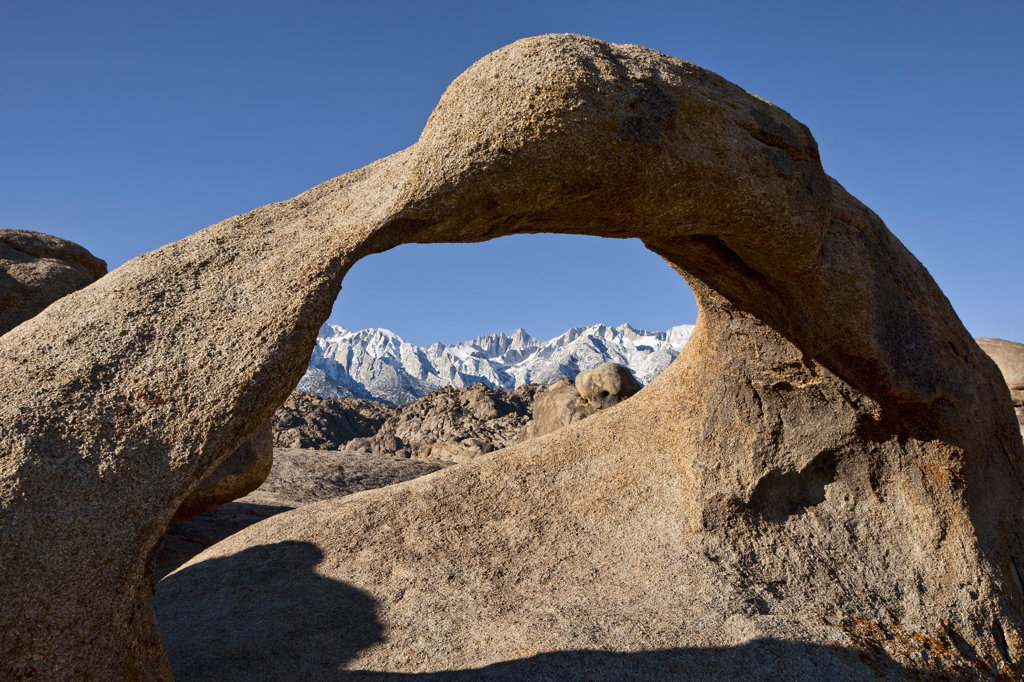 USA, California, Alabama Hills and Mobius Arch : Stock Photo