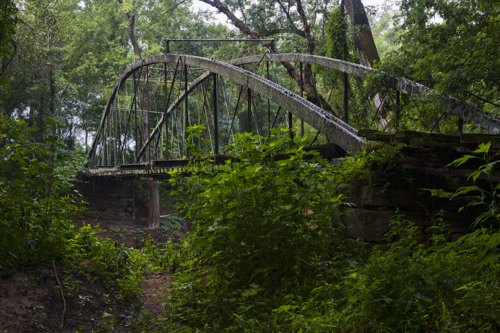 Stock Photo: 4116-673 USA, Arkansas, Ozark National Forest, Springfield Bridge, oldest vehicular bridge in Arkansas