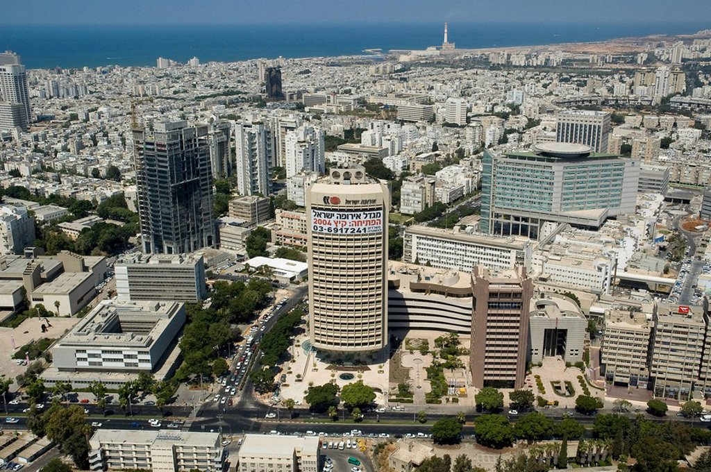 Stock Photo: 4119-2056 Aerial photograph of Tel Aviv´s downtown