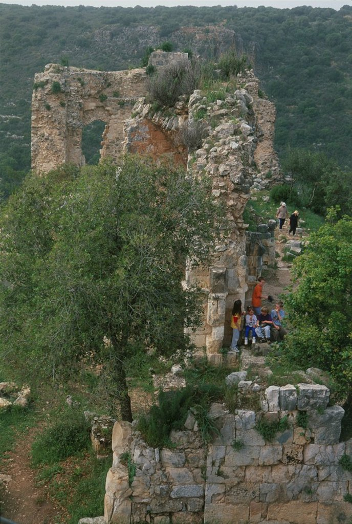 Stock Photo: 4119-3105 Photograph of the Castle of Montfort in the western Galilee
