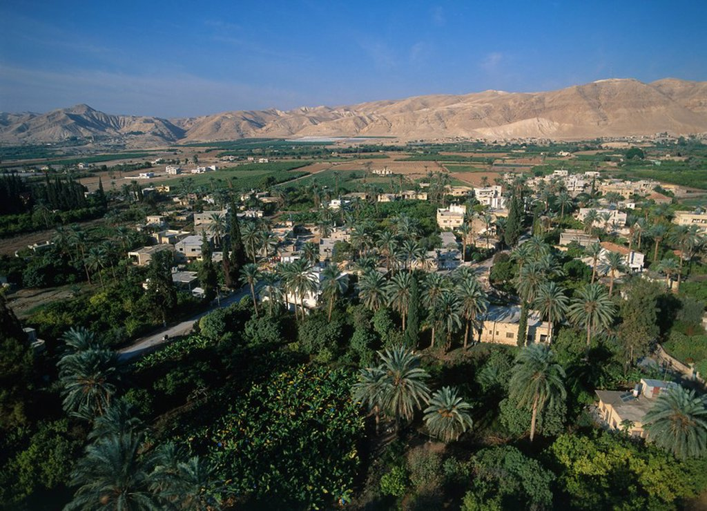Stock Photo: 4119-3318 Aerial view of the city of Jericho