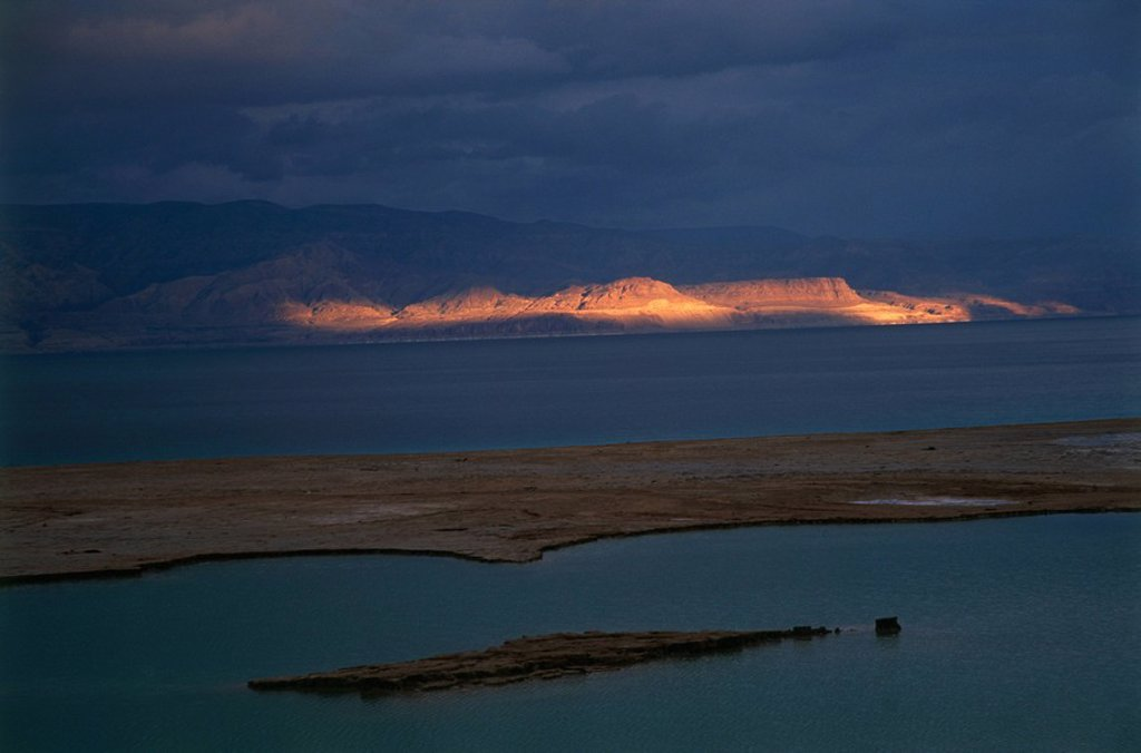 The Jordanian side of the Dead Sea : Stock Photo
