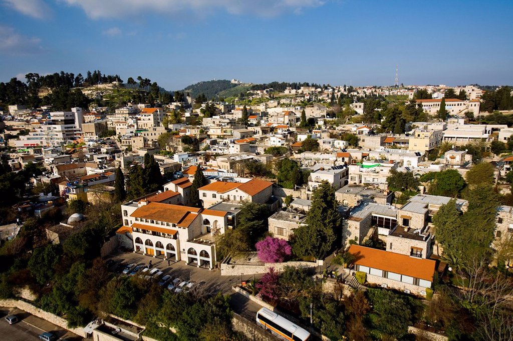 Aerial photograph of the city of Zefat in the Upper Galilee : Stock Photo