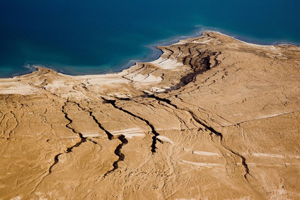 Abstract view of the Dead sea : Stock Photo