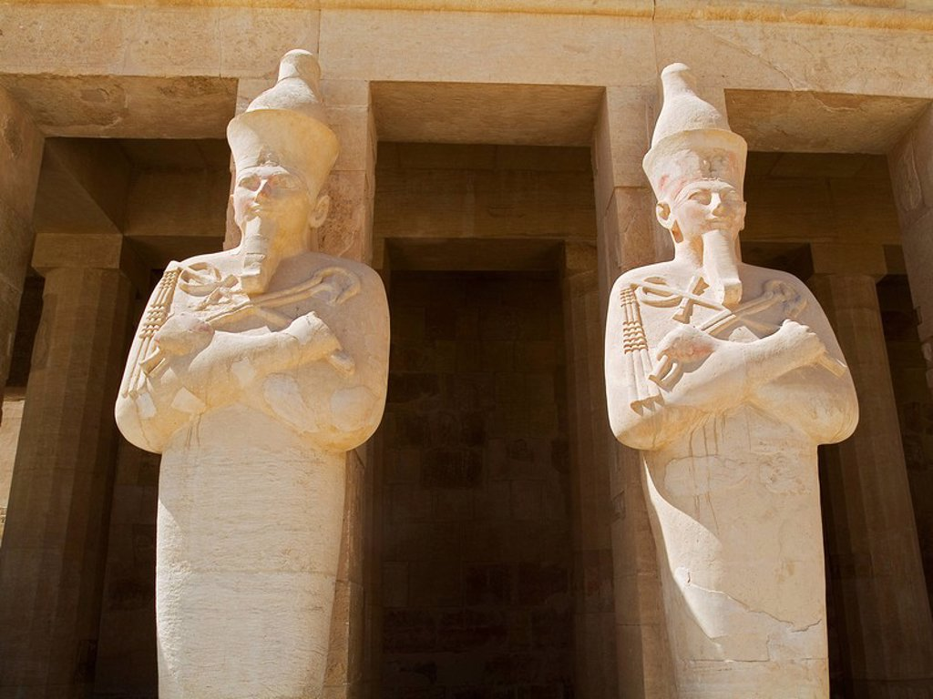 Photograph of an Egyptian temple in Luxor : Stock Photo