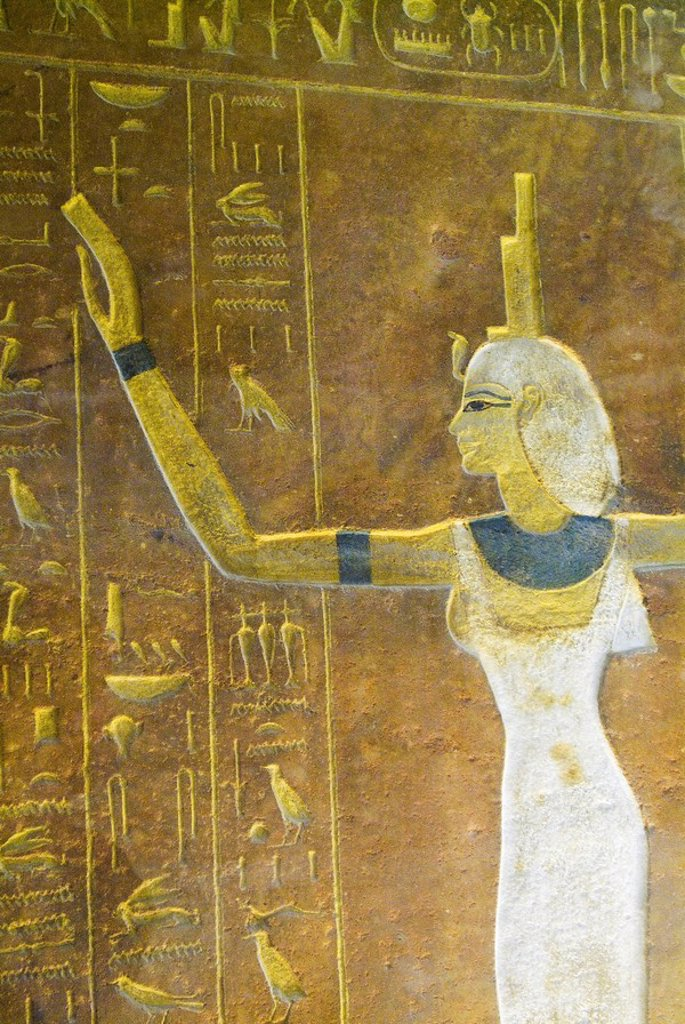Photograph of an Egyptian hieroglyphics : Stock Photo