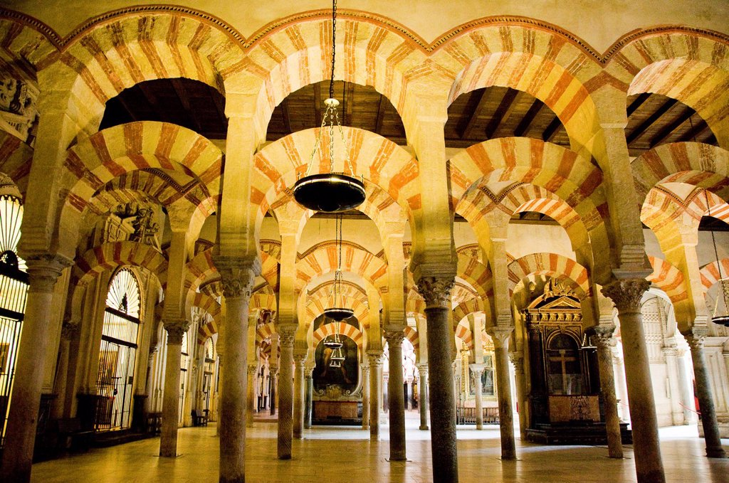 Photograph of the Mezquita in the city of Cordova Andalusia : Stock Photo