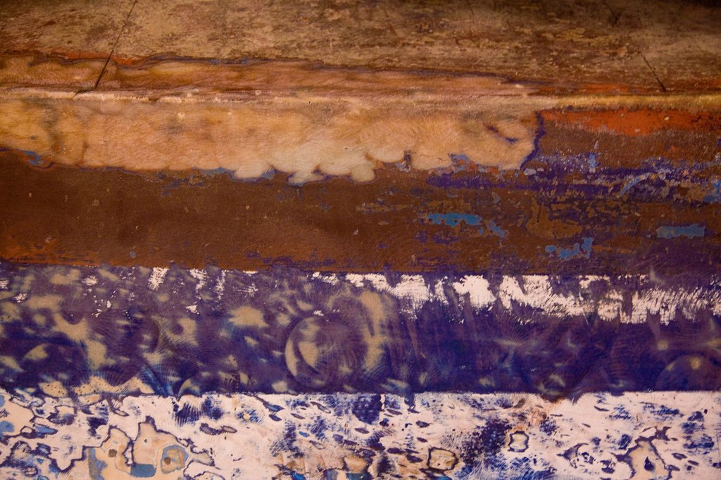 Stock Photo: 4119-9665 Abstract view of a boat´s hull in the port of Jaffa
