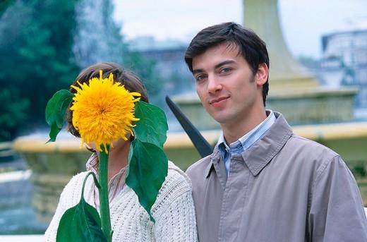 Stock Photo: 4123-10936 Couple on the street