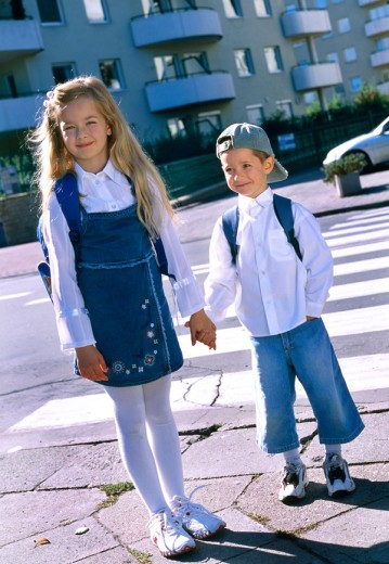 Children on the street : Stock Photo