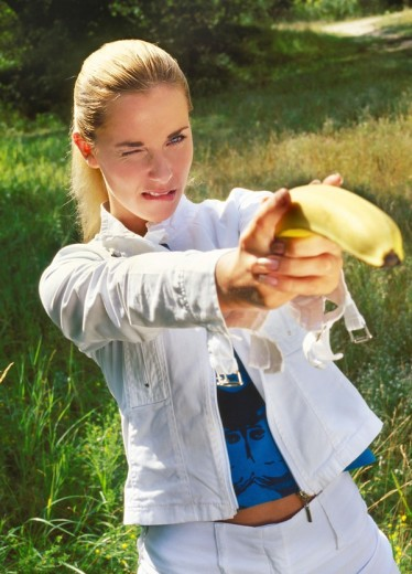Stock Photo: 4123-11962 Woman with banana