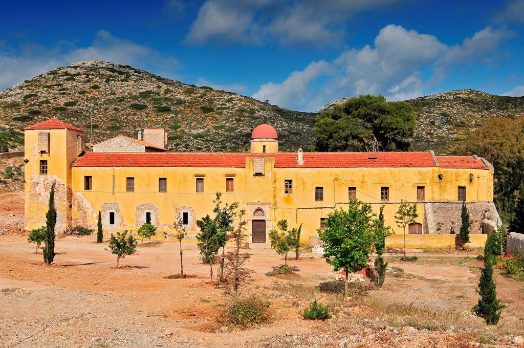 Gouverneto Monastery (Moni Gouvernetou), one of the oldest ...