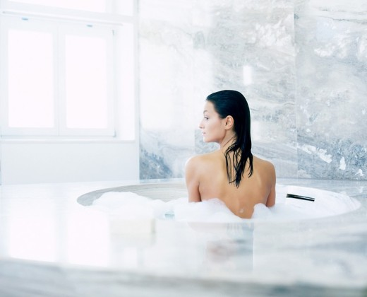 Woman in the bath : Stock Photo