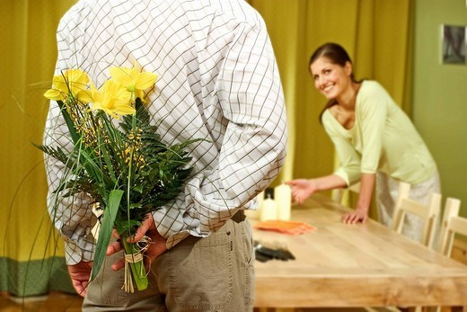 Couple at home : Stock Photo